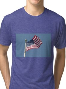 USA Flag Tri-blend T-Shirt