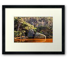 Tidal River Sunrise Framed Print