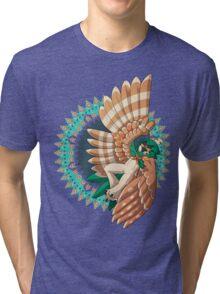 Decidueye Used Spirit Shackle! Tri-blend T-Shirt