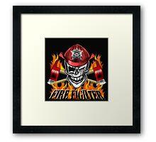 Fireman Skull 7 Framed Print