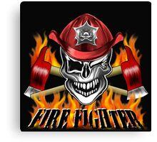 Fireman Skull 7 Canvas Print