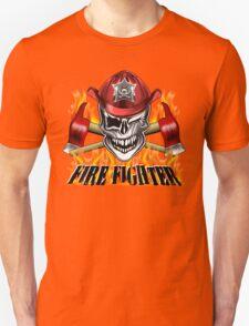 Fireman Skull 7 Unisex T-Shirt