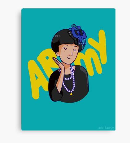 army mom Canvas Print