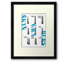 Skyscrapers Collection White Edition Framed Print