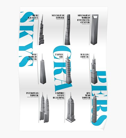 Skyscrapers Collection White Edition Poster