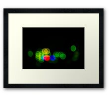 Abstract Bokeh Lights III Framed Print