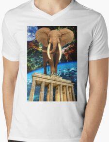 space elephant Mens V-Neck T-Shirt