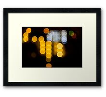 Abstract Bokeh Lights IV Framed Print