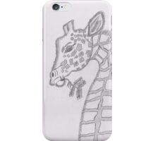 Lonely giraffe-sending hugs! iPhone Case/Skin