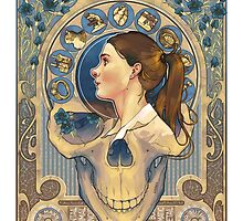 Molly Hooper Art Nouveau by noisymouse
