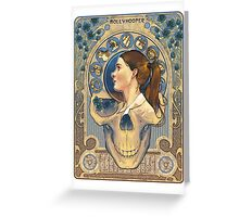 Molly Hooper Art Nouveau Greeting Card