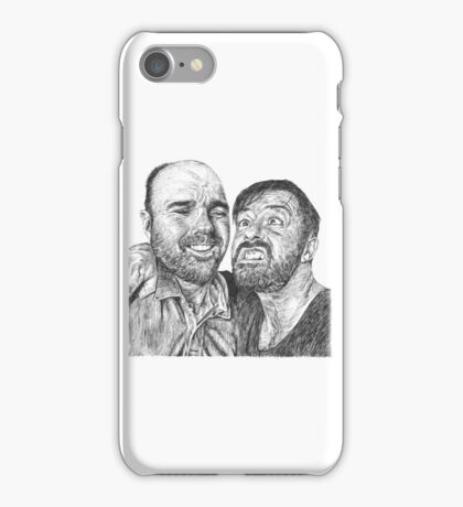 Karl Pilkington & Ricky Gervais - the world need more of em!! iPhone Case/Skin