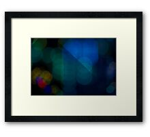 Abstract Bokeh Lights V Framed Print