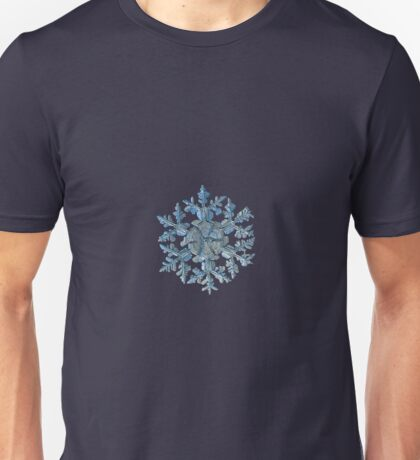Gardener's dream, real snowflake macro photo Unisex T-Shirt