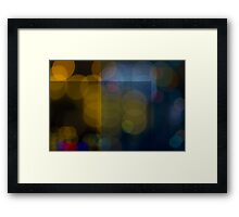 Abstract Bokeh Lights VI Framed Print