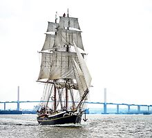 The Morgenster sailing up the Thames  by MarcW