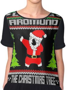 Dabbing Around The Christmas Tree Chiffon Top