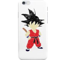 Little Saiyan Drawing iPhone Case/Skin
