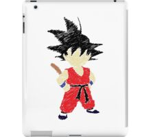 Little Saiyan Drawing iPad Case/Skin