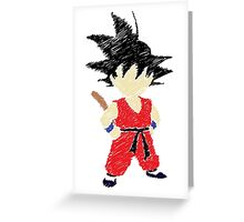 Little Saiyan Drawing Greeting Card