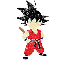Kid Goku Drawing Photographic Print