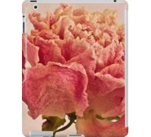 Dried Peony Macro - Textured Background  iPad Case/Skin