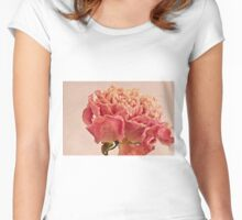 Dried Peony Macro - Textured Background  Women's Fitted Scoop T-Shirt