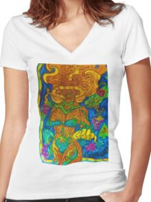 Ganja Guardians #12 BlackBerry {Final} Women's Fitted V-Neck T-Shirt