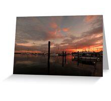 Scarborough Harbour Sunrise. Brisbane, Queensland, Australia. Greeting Card