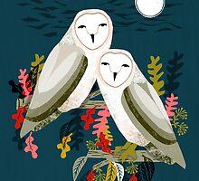 Two Owls by Andrea Lauren