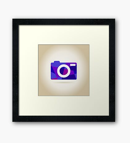 Abstraction the camera Framed Print
