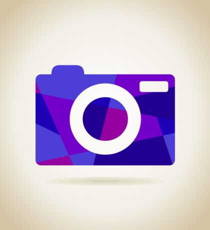 Abstraction the camera Sticker