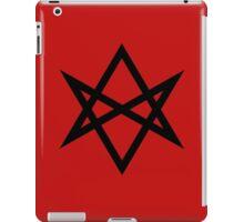 Hexagram | Magic Symbol | Letters of Men | Supernatural Print on Blood Red iPad Case/Skin