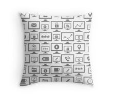 Background the computer5 Throw Pillow