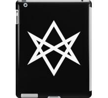 Hexagram | Magic Symbol | Letters of Men | Supernatural Print on Black iPad Case/Skin