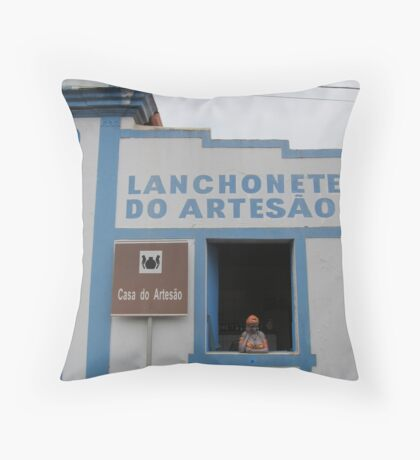 Lanch in Brasil  Throw Pillow