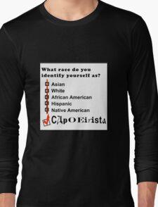 capoeira abada martial arts brasil Long Sleeve T-Shirt