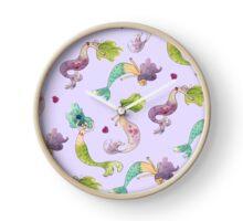 Mermaid Party Clock