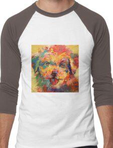 Maltese Terrier Puppy Men's Baseball ¾ T-Shirt