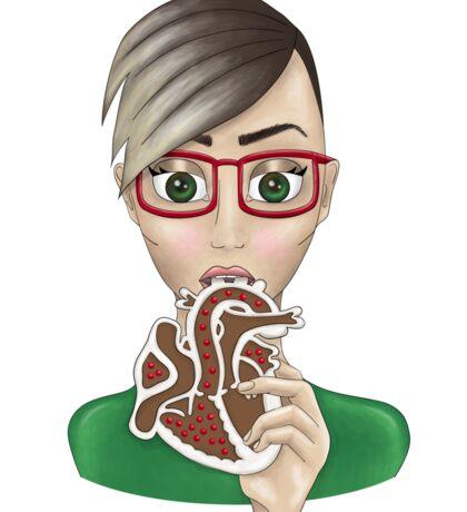 Gingerbread Jen Sticker