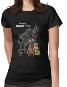 Gruss Vom Krampus Greetings From Christmas Demon  Womens Fitted T-Shirt