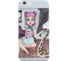 Bonnibelle & Aniij - Pin Up Girl & Python Companion iPhone Case/Skin
