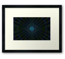 digital peacock matrix  Framed Print