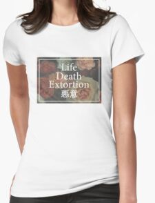 Floral L/D/E Womens Fitted T-Shirt