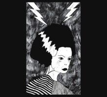 Bride of Frankenstein T-Shirt by Allie Hartley