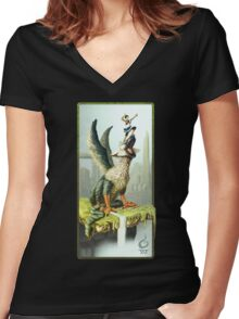 The Last Guardian V.1 Women's Fitted V-Neck T-Shirt