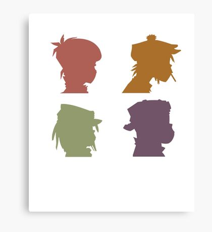 Gorillaz Music Band Canvas Print