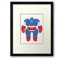 Baymax (Captain America Armored) Framed Print