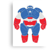 Baymax (Captain America Armored) Canvas Print