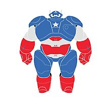 Baymax (Captain America Armored) Photographic Print